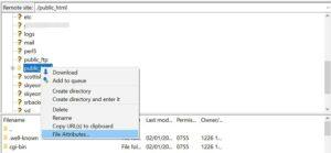 الاتصال بموقعك باستخدام بروتوكول نقل الملفات الآمن (SFTP) مثل «FileZilla».